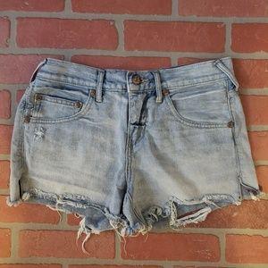 Free People Light Wash Jean Shorts